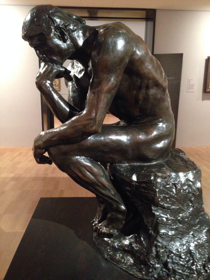 The Thinker - bronze sculpture. Melbourne Art Gallery. Australia
