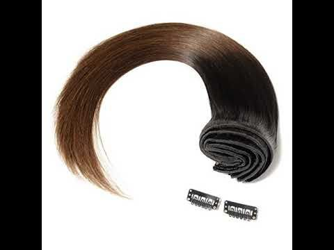 Reviews Double Weft 100% Remy Clip in Human Hair E…