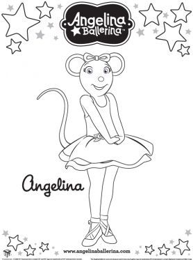 angelina ballerina coloring pages to print 1