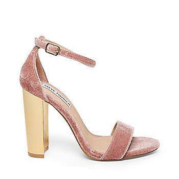 Velvet Block High Heel Sandals from Steve Madden R899,00
