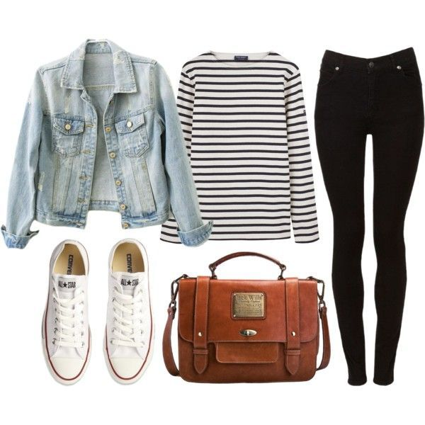 Untitled by hanaglatison on Polyvore featuring moda, Saint James, Cheap Monday, Converse and Jack Wills: