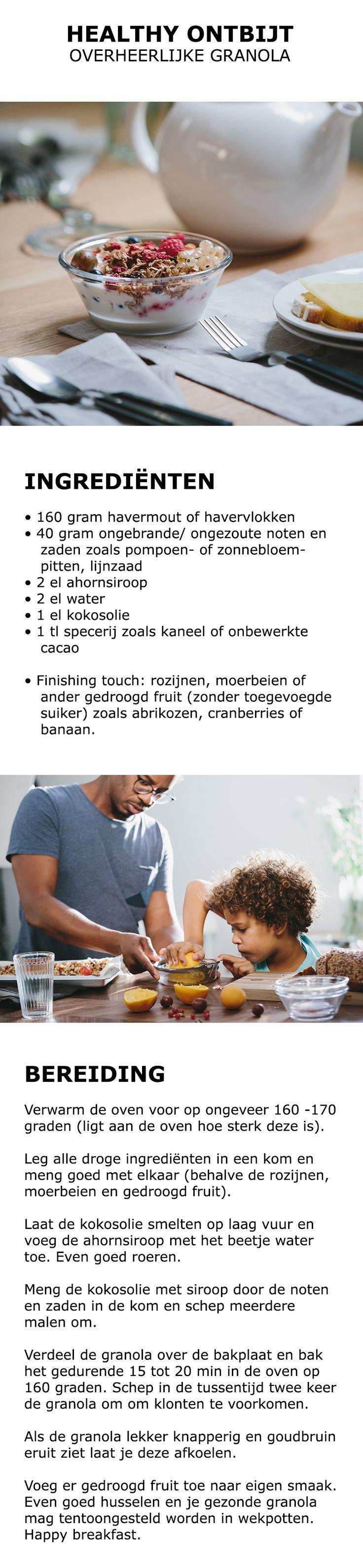 Inspiratie voor de vroege vogels - Overheerlijke granola   #IKEA #IKEAnl #recept #bakken #ontbijt #breakfast #yoghurt #granola #havermout #havervlokken #noten #kaneel