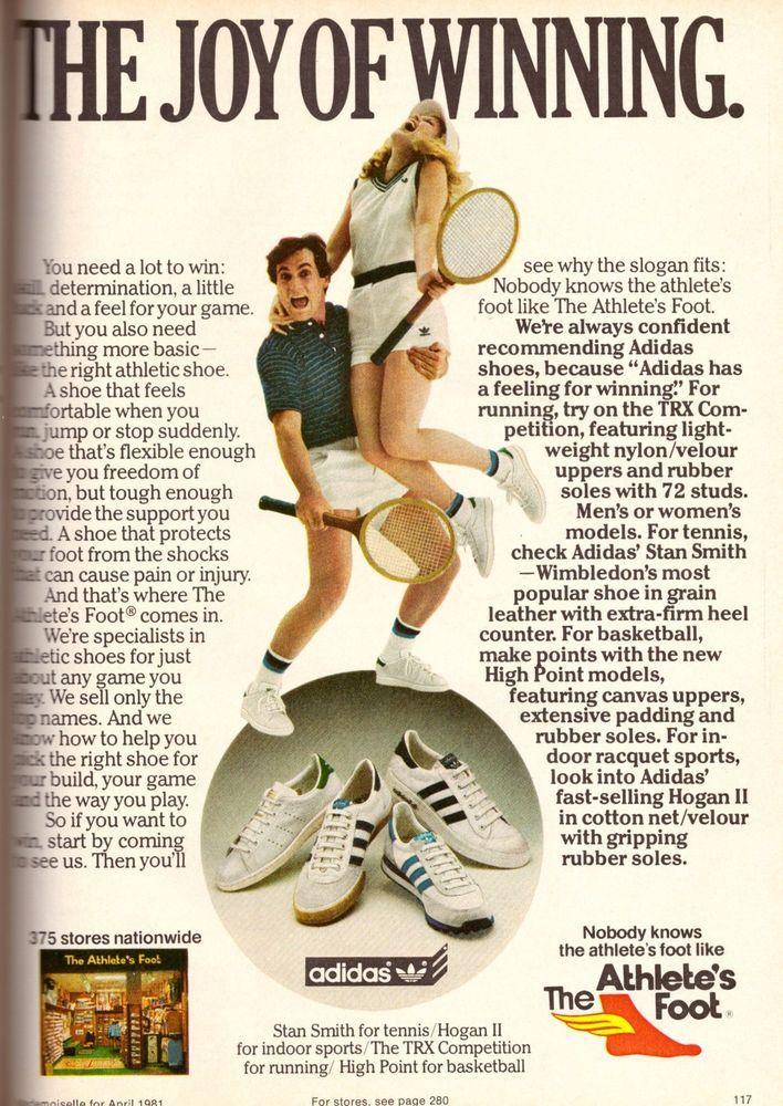 1981 Adidas Stan Smith Tennis Running Shoes Print Ad Vintage Advertisement 80s | eBay