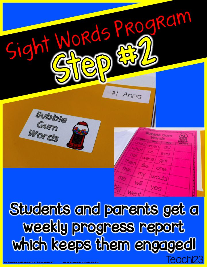 Editable Sight Word Program ~ Students and Parents get a weekly progress report. #Teach123