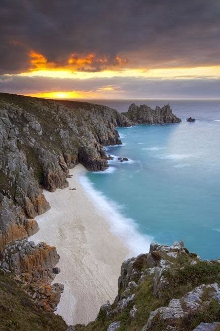 Cornwall, England. Just look at that beach!
