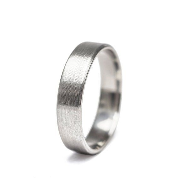 Brushed Stainless Steel Ring Stainless Steel Wedding Band Etsy Stainless Steel Wedding Bands Etsy Wedding Rings Stainless Steel Rings