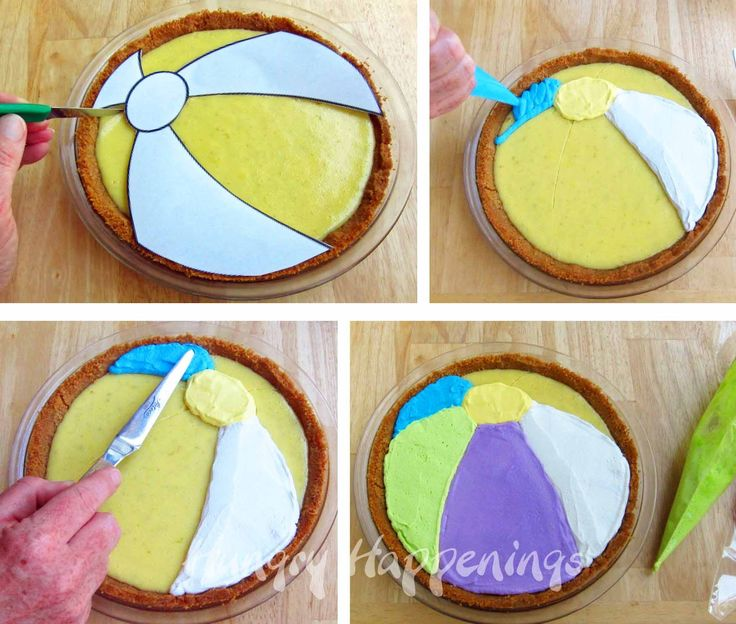 Hungry Happenings: Decorate a pie to look like a beach ball using colored whipped topping.