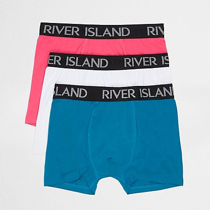 Blue pink and white trunks multipack £15.00