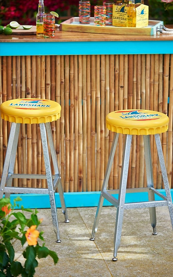 Superb Crack Open A Cold One As You Take A Seat On Our Landshark Bottlecap  Barstool.