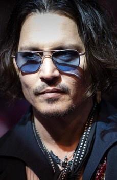 Johnny Depp mingling at the Pink Taco