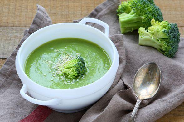 Petite purée aux brocolis et jambon