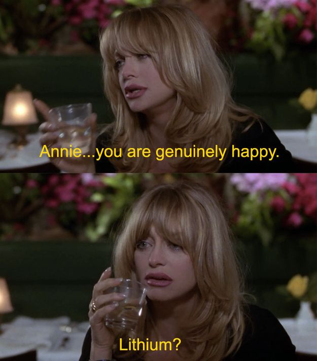 In the beginning of the film, these three women are seriously depressed. And it's the '90s, so people are still taking Lithium, the world's worst anti-depressant. | The 30 Most WTF Things About The First Wives Club