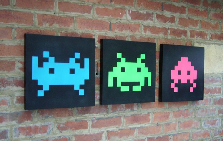 Space invaders wall art #gaming #art