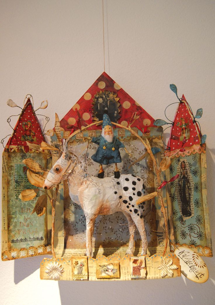 Papermaché work by http://www.lartquirit.ch/