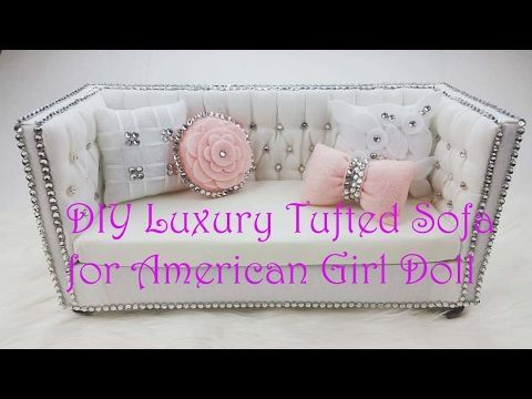 How to make a doll armchair for Barbie, Monster High, MLP, EAH, etc - YouTube