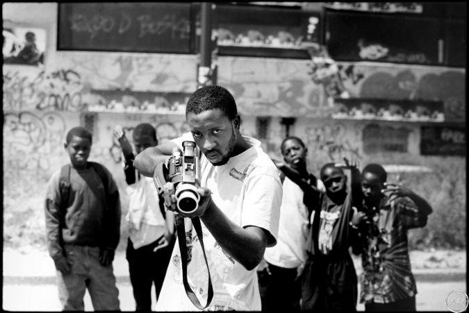 28 Millimeters Portraits of a Generation, Braquage, Ladj Ly by JR, Les Bosquets, Montfermeil, 2004