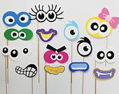 Monster Photo Booth Props. Silly Monster by LittleRetreats on Etsy
