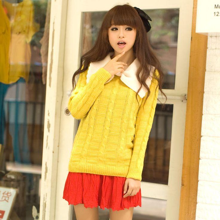 Japan Style Orange / Yellow cute sweater