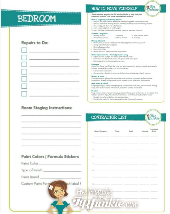 Moving Out Free Planner U0026 Checklist {Tip Junkie Freebie!}