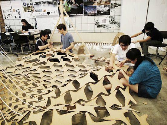 Ninety-Nine Failures Pavilion Built with Ninja Steel Pillows
