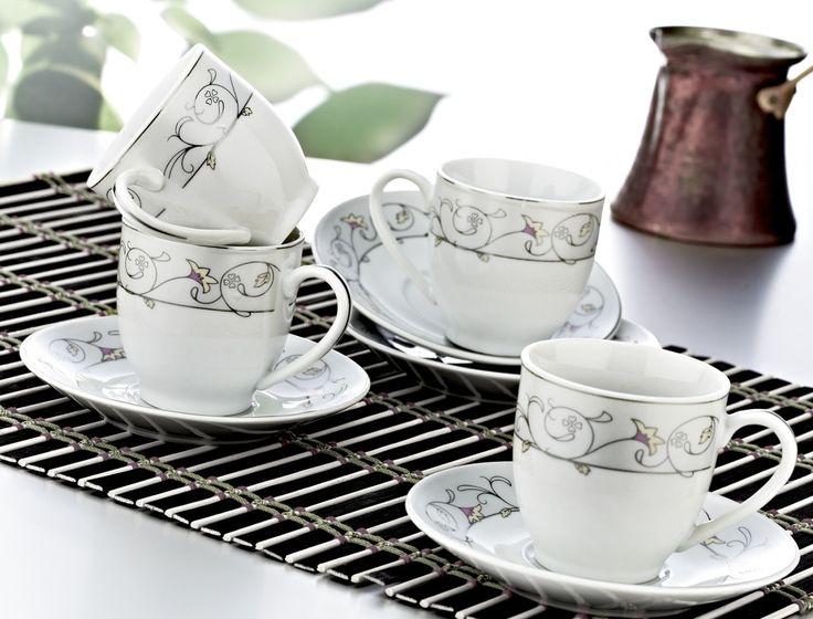 Zerden 12 Parça Porselen Kahve Fincan Takımı 841