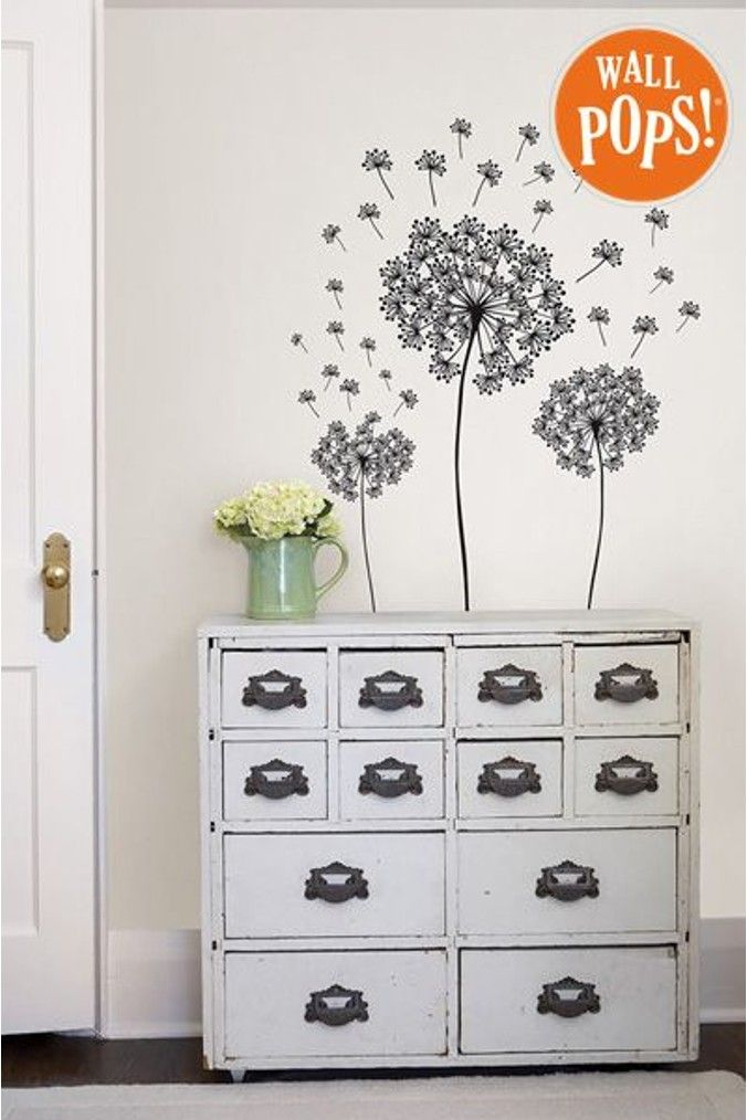 Wall Pops Dandelion Wall Sticker Dandelion Wall Art Dandelion