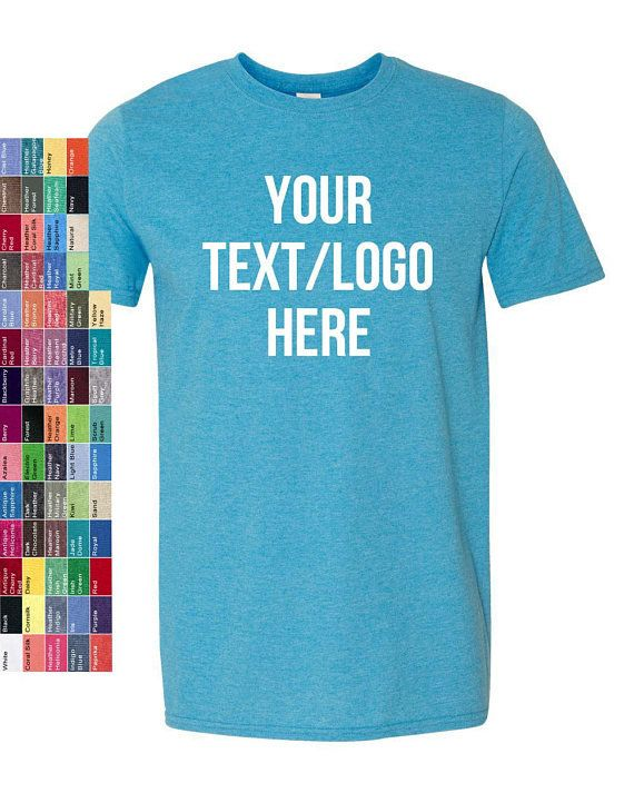 e75257f36d2c Custom Made T Shirt-Softstyle Gildan-64000 with Vinyl or Glitter Print  Customized -includes Your Name, Logo, Design Family Fundraiser Events by  A3CustomINK ...
