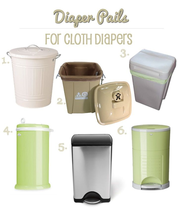 Cloth diaper pails to fit any decor!  If the question of what to do with the dirty diapers is holding you back from using cloth diapers, rest assured that a good diaper pail really will contain the odors until you're ready to wash them.  This article explains how to store your diapers until wash day.
