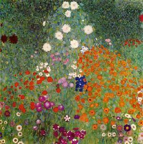 Gustav Klimt - Jardin de fleurs