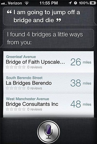 That moment when not even Siri likes you…