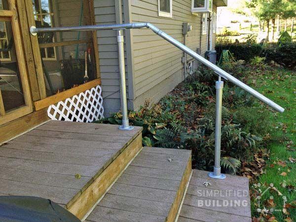 Best Back Steps Deck Railing Pipe Railing Pinterest Ideas 640 x 480