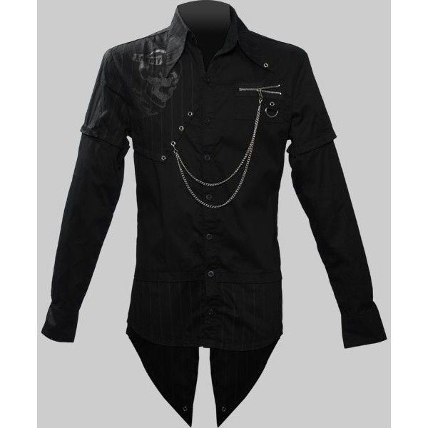 Men's gothic button-down shirt by Queen of Darkness clothing ($3.16) ❤ liked on Polyvore featuring mens, men's clothing, men's shirts, men's casual shirts and tops