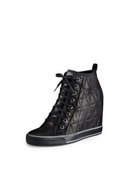 Grommet Wedge Sneaker