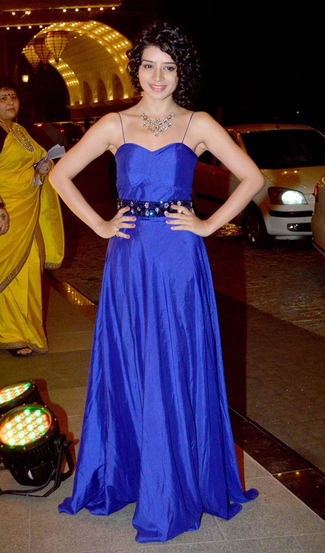 Sukriti Kandpal goes bold in an electric blue gown. #Fashion #Style #Bollywood #Beauty