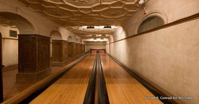 7 Hidden Bowling Alleys in New York City: Frick Museum, Port Authority, Ridgewood, The Aldyn, 15 Broad... We rounded up 7 hidden bowling alleys in NYC ranging from vintage to brand new, including the Frick Museum, Port Authority, The Aldyn, 15 Broad and a loft in Tribeca.