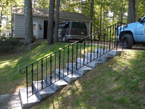 25 best images about wrought iron bannister on pinterest - Exterior wrought iron handrails for steps ...