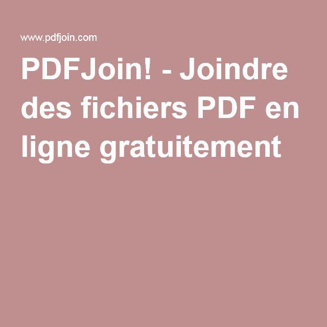 PDFJoin! - Joindre des fichiers PDF en ligne gratuitement
