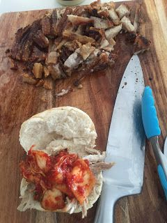 3EggsFull: Pork slider with kimchi