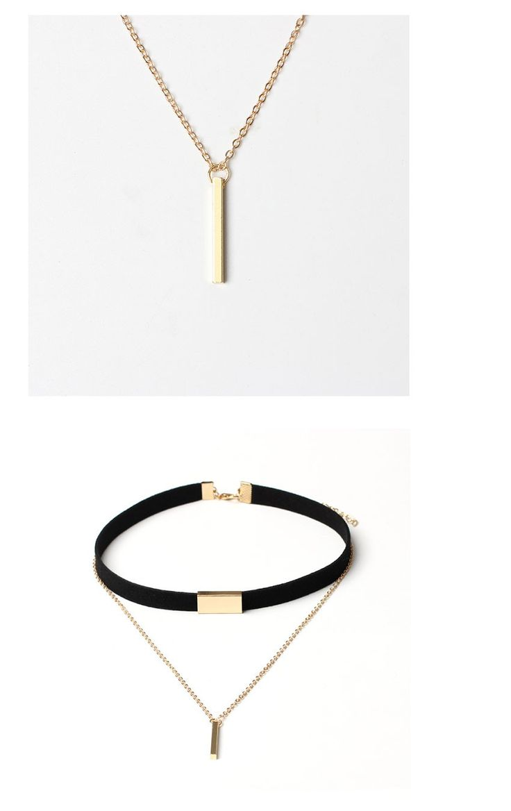 New Black Velvet Choker Necklace Gold Chain Bar Chokers Chocker Necklace For Women collares mujer collier