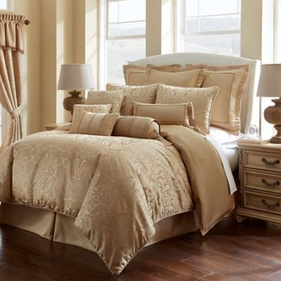 Buy Waterford® Lynath Reversible King Comforter Set in Gold from Bed Bath &…