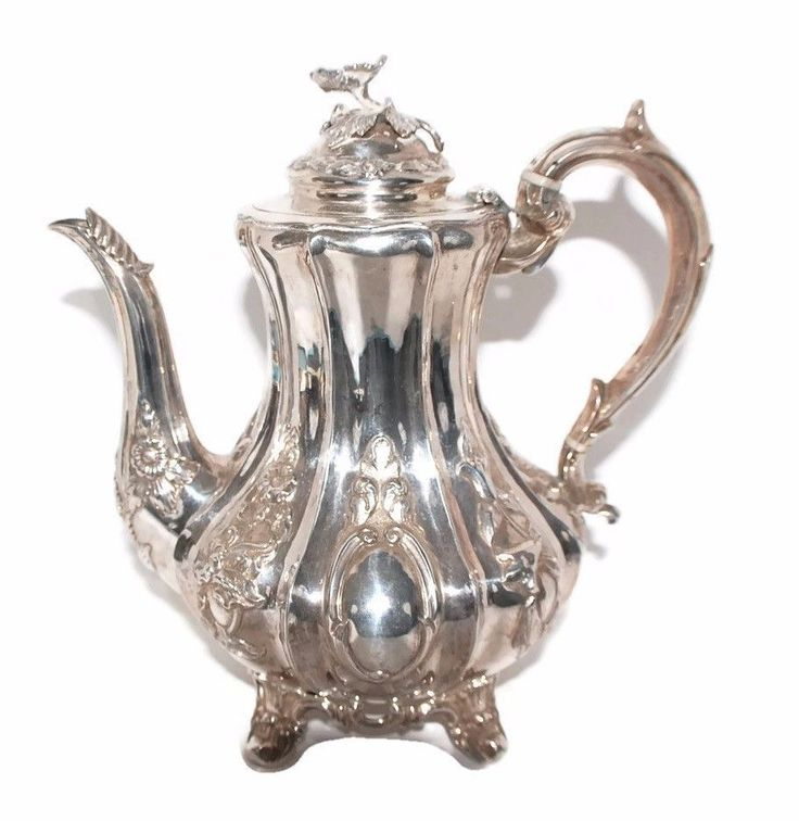 VICTORIAN COFFEE POT BRITISH .925 STERLING SILVER CA.1850