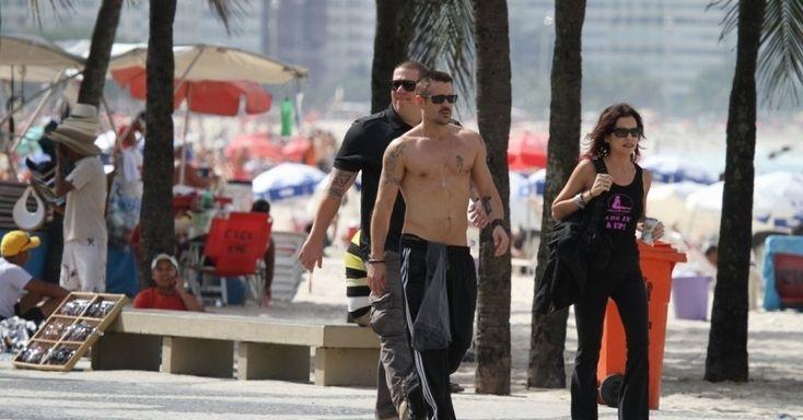 """Colin Farrell promove """"O Vingador do Futuro"""" no Rio"""