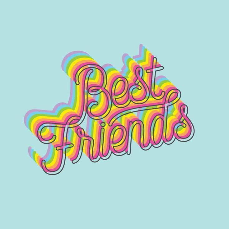 Best Friend Best Friend Wallpaper Word Art Design Friends Wallpaper