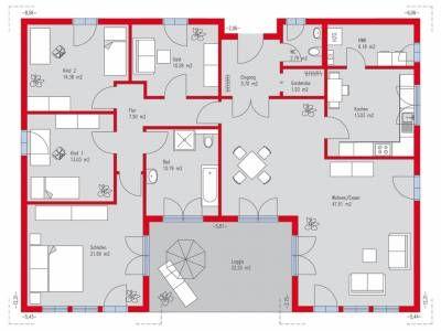 1000 bilder zu bungalow grundriss auf pinterest hauspl ne haus und kleine h user. Black Bedroom Furniture Sets. Home Design Ideas