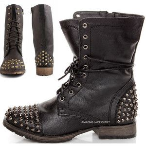 17 best ideas about Studded Combat Boots on Pinterest | Combat ...