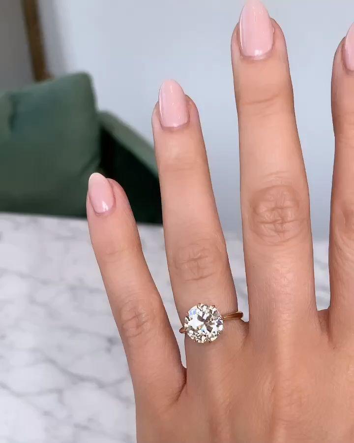 3.47ct antique diamond engagement ring