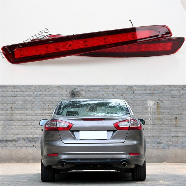 Led Rear Bumper Reflector Brake Light For Ford Mondeo Fusion 4 2011 2012 2013 Warning Light Car Styling Review Ford Mondeo Car Car Lights