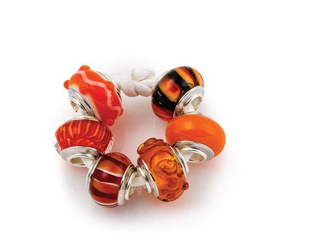 "Amore & Baci ""orange county"" beads set"