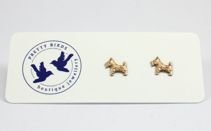 Pretty Birds Creations - Scotty Dog Studs