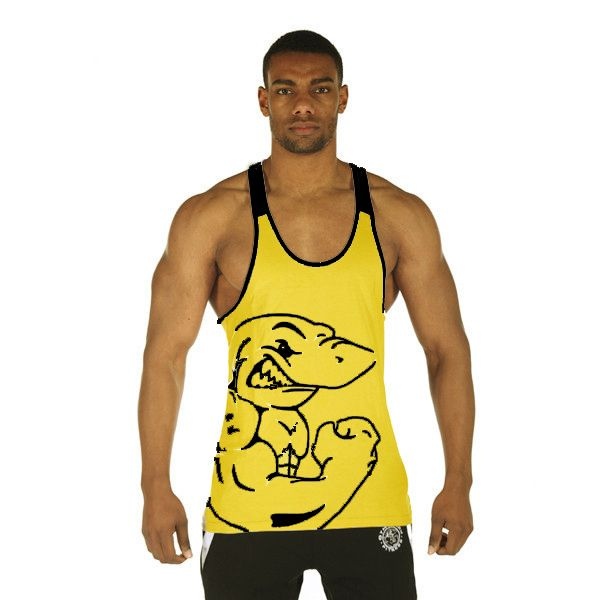 Gyúrós edző trikó férfi cápás sárga. Edzéshez,fitneszhez, testépítéshez! Már 2 db-tól INGYENES szállítás! Többféle színben és méretben! Gyere és ...
